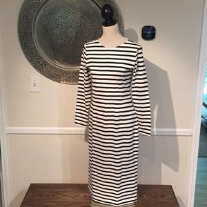 NWT J.Crew CHLOE white and black striped dress 6